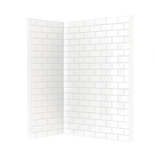 "ABS Acrylic Tile Wall Kit to Fit 60"" Shower"