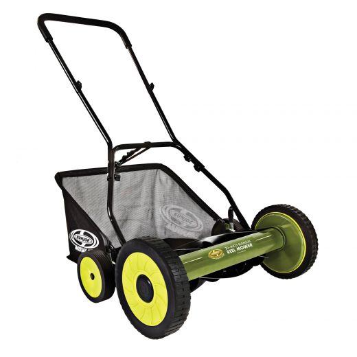 """20"""" Sun Joe Manual Reel Mower With Grass Catcher"""