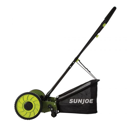 """16"""" Sun Joe Manual Reel Mower With Grass Catcher"""