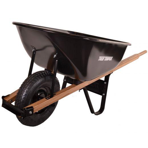 6 Cu Ft Steel Wheelbarrow