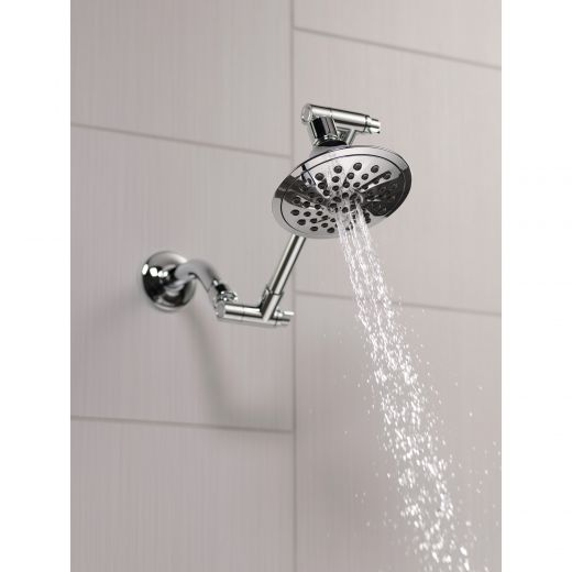 3 Setting Chrome Shower Head With Adjustable Arm