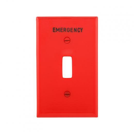 Red Emergency 1-Gang Toggle Wallplate