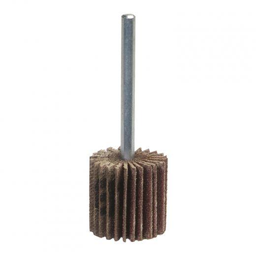 "1""x 1"" x 1/4"" Aluminum Oxide Mini Flap Wheel 80 Grit"