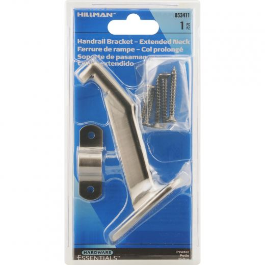 Pewter Extended Neck Handrail Brackets