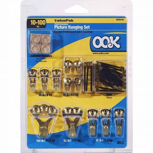 OOK Professional Hanging Valu-Pak Kits 34 Piece