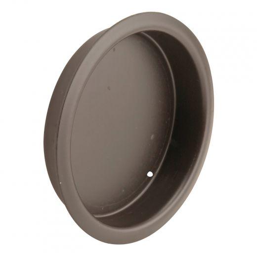 "Closet Door Finger Pull, 2-1/8"", Classic Bronze"