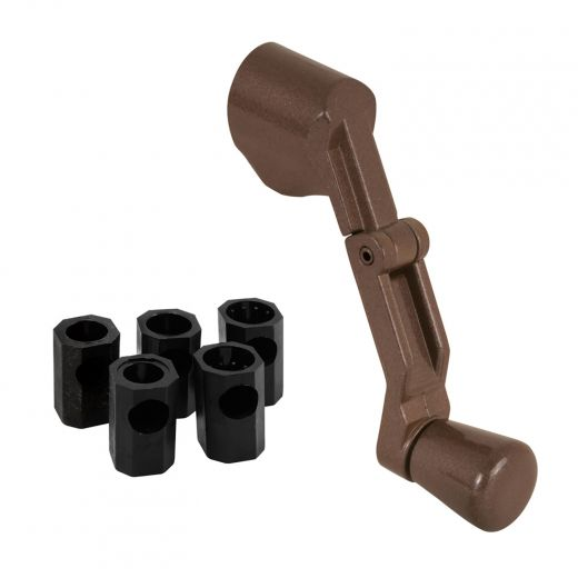 Casement Handle, Folding, Universal Spline, Bronze