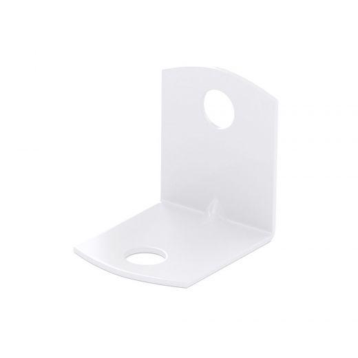 Square Corner Brace Bracket 3/4-in X 3/4-in White 90Dg (100)
