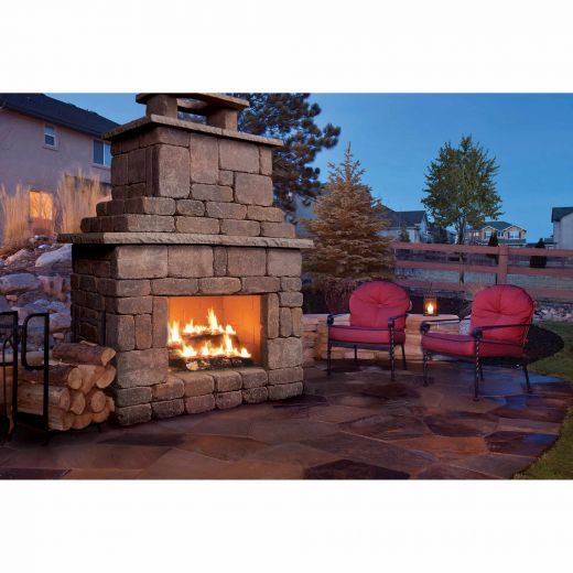 Brooklyn Fireplace Kit In Chamois Charcoal