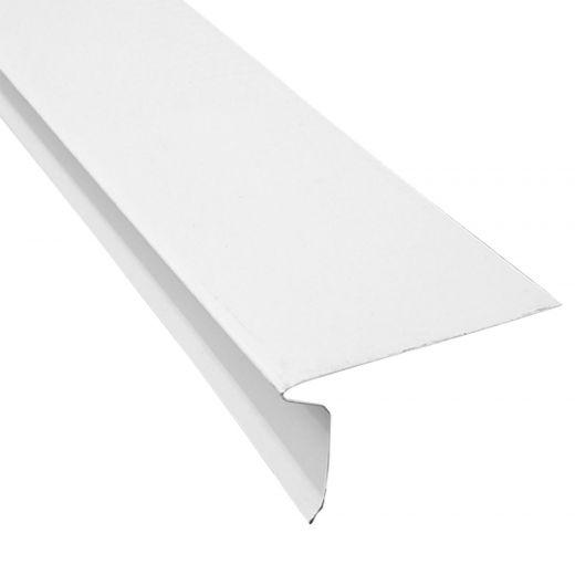 """4.5"""" x 9.84' White Aluminum Front Flashing"""