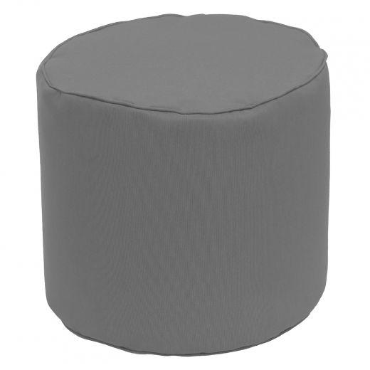 Round Grey Hassock