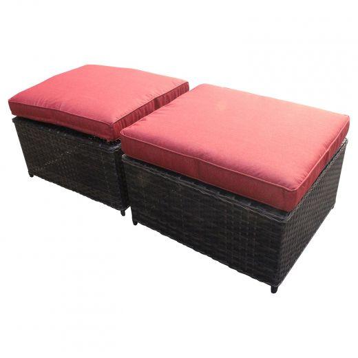 Carleton 2 Piece Ottoman-Red