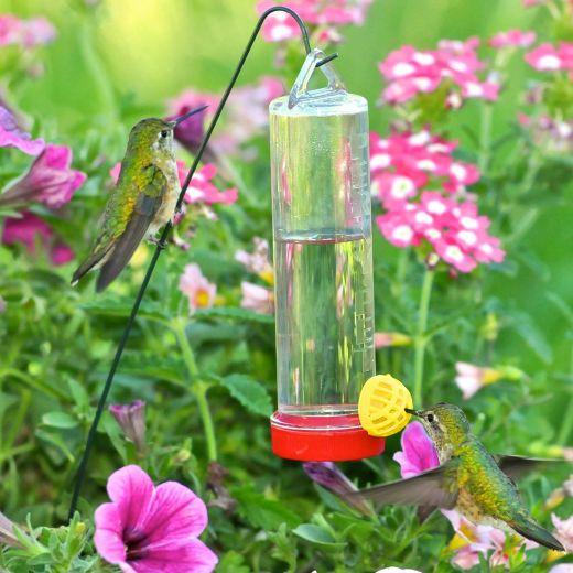 Planter Box 3 Oz Plastic Hummingbird Feeder With Hanging Rod