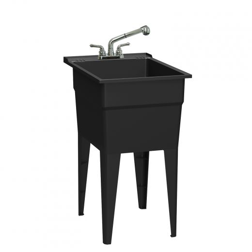 All-in-One Black Laundry Tub