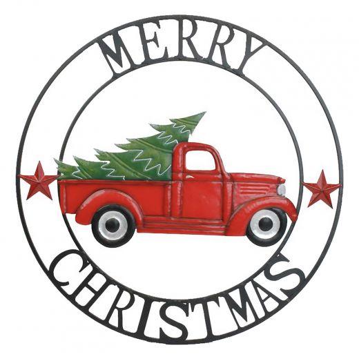 Merry Christmas Truck Circle