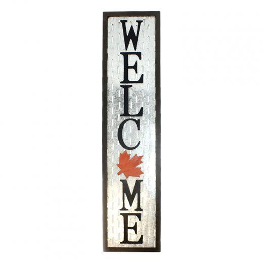 """9"""" x 39"""" Canada Welcome Door Décor"""