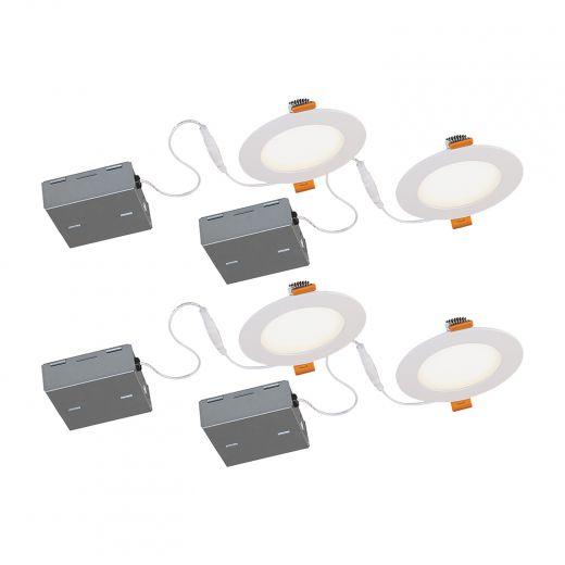 "4"" LED Recessed Ultra Slim 600 Lumens- 4/Pack"