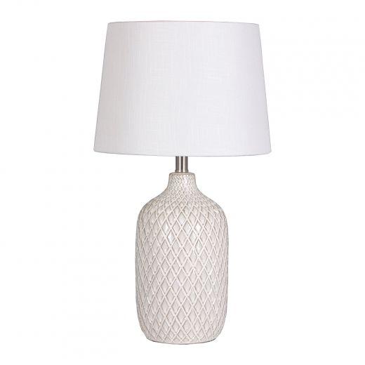 "26"" Ceramic Table Lamp White"