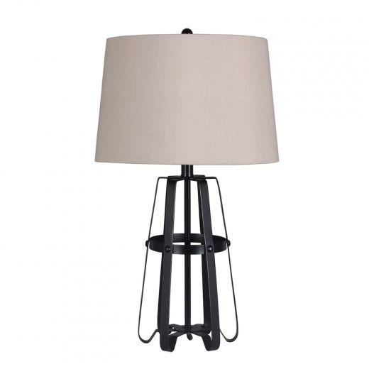 "Rusty 26"" Table Lamp Black"