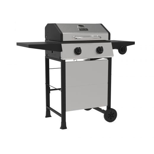 Two Burner Open Cart LP Gas Grill With Side Burner