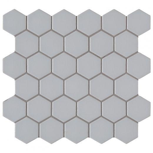Retro Hexo Gray Porcelain Mosaic Tile
