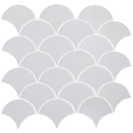 Retro Scallop Porcelain Mosaic Tile