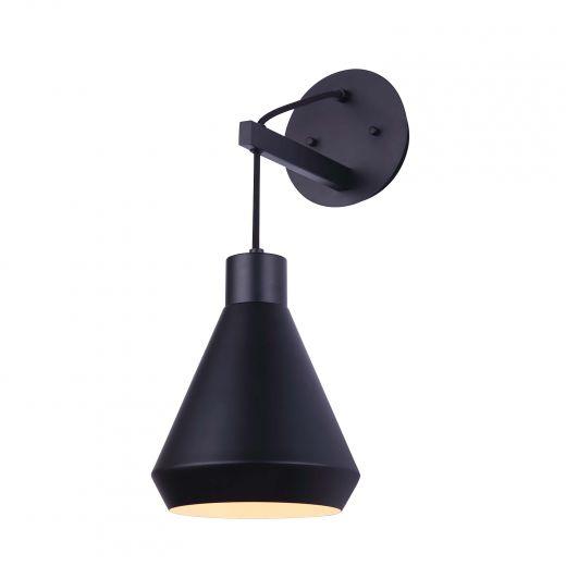 Byck 1 Light Matte Black Wall Fixture