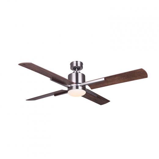 """Loxley 52"""" LED Brushed Nickel Ceiling Fan"""