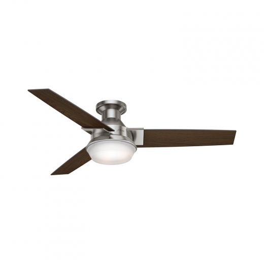"""52"""" Morelli  Low Profile Ceiling Fan with LED Light Hunter"""