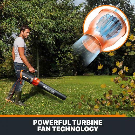 WORX 12 Amp TURBINE 600 CFM Electric Blower