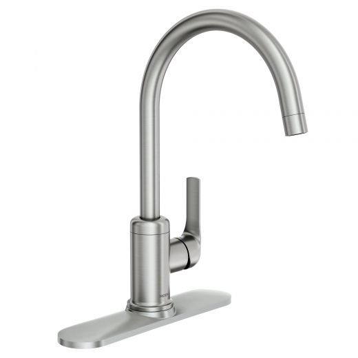 Charmant Spot Resist Stainless 1-Handle High Arc Kitchen Fau