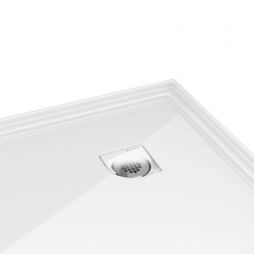 """36"""" Round Low Profile Acrylic Shower Base"""