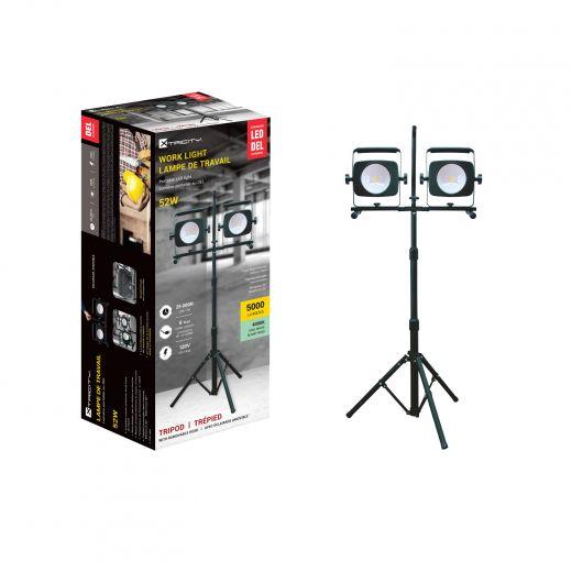 2 Heads Integreted LED Work Light 2 x 26 Watt, 5000 Lumens,