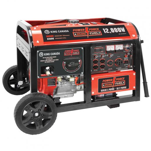 12000W Dual Fuel Gasoline/Propane Generator With Electric St