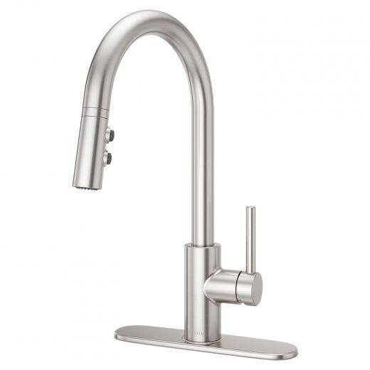 Fullerton Pull-Down 1-Handle Stainless Steel Kitchen Faucet