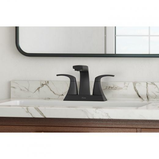 Karci 2-Handle Matte Black Lavatory Faucet