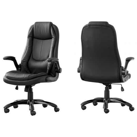 Black Faux Leather Multi Position High Back Executive Office