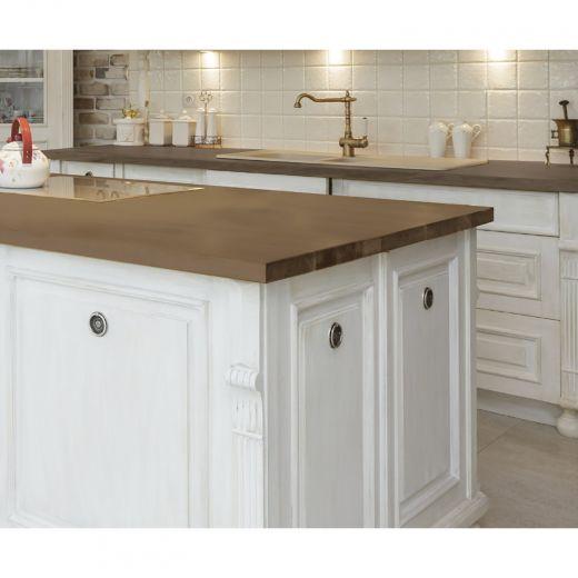 6' Acacia Wood Counter Top Gray