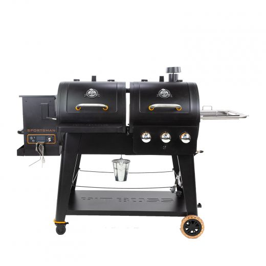 Wood Pellet And Gas Combo Grill
