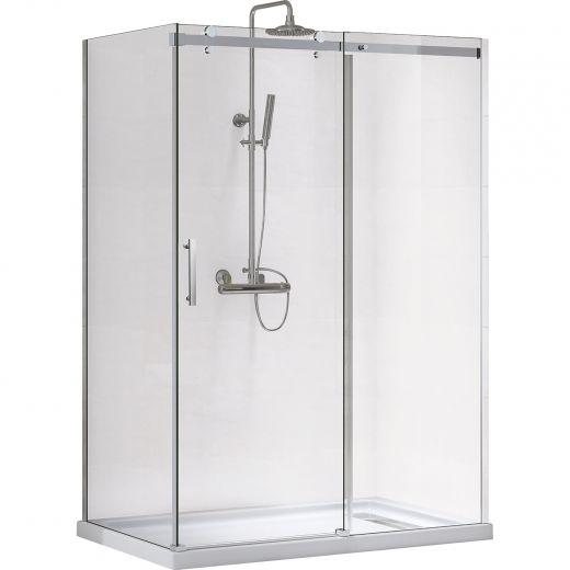 """48"""" Inspiration Reversible 8mm Clear Shower Door"""