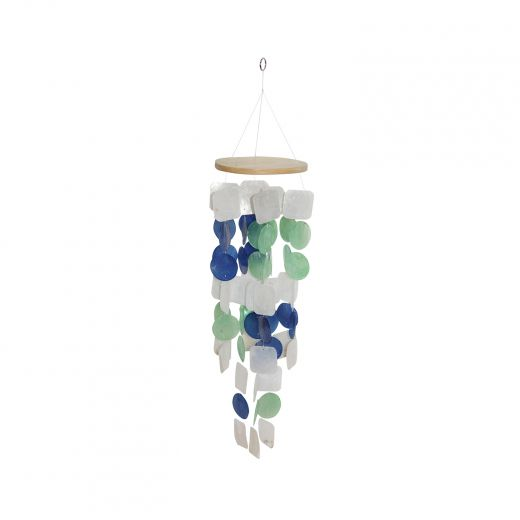 Blue,Green and White Shell Windchime