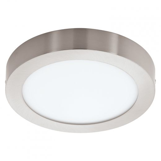 Fueva 1 LED Ceiling Light, Matte Nickel Finish with White Ac