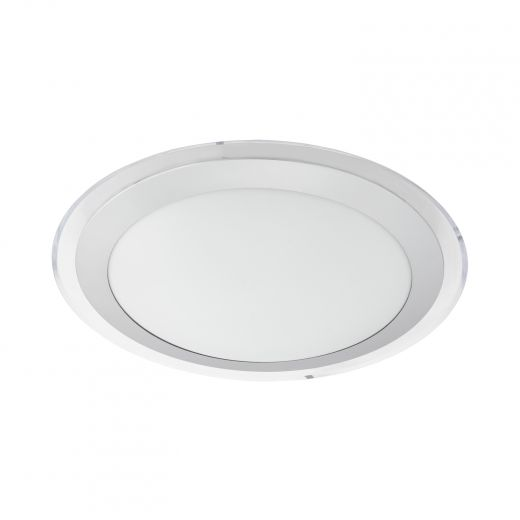Competa 2 LED Ceiling Light, 23W, Silver Finish with Round W