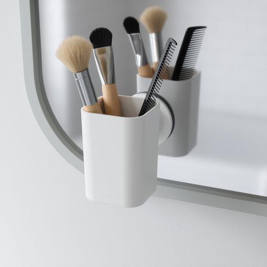 Flex Sure-Lock White Toothbrush Holder