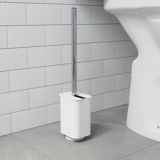 Flex Sure-Lock White Toilet Brush And Holder