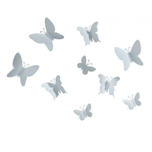 Mariposa Grey 9 Piece Wall Décor