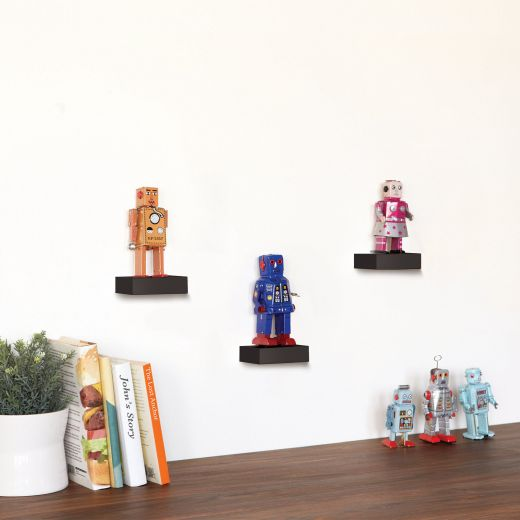 Showcase Black 3 Piece Display Shelves