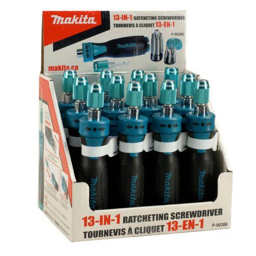 13-In-1 Maktia Ratcheting Screwdriver