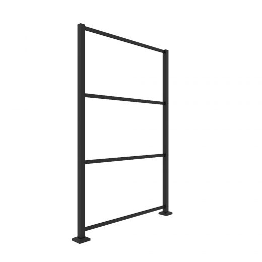 Matte Black Aluminum Frame Kit For 2x4 Decorative Screen Pan