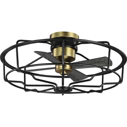"Loring 33"" Black With Matte Black Blades Ceiling Fan"